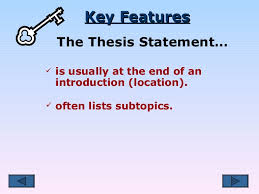 where is the thesis of a paper located where is the thesis statement located in an essay why quora
