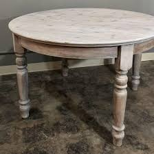antique country french round whitewashed dining or centre table in excellent condition for in dallas