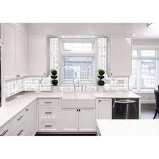 shell tiles kitchen backsplash tile white square mother of pearl mosaic bathroom wall interior decor