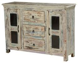 winter storm mango wood glass door 3 drawer rustic sideboard cabinet farmhouse buffets and sideboards by sierra living concepts