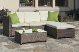 Poundex P Outdoor Patio Sectional Sofa Set