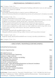 Sample Journeyman Electrician Resume | Cvfree.pro