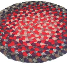 on vintage round braided rug small rug