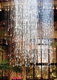 fiber optics crystal drops chandelier