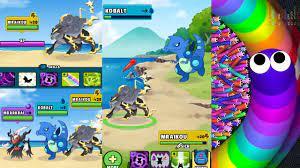 Game Pokemon Go - Dynamons World Mod Apk 37 Rắn săn mồi Little Big Snake  Slither.Io Vui Nhộn