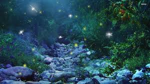 Fireflies in Woods wallpaper - Fantasy ...