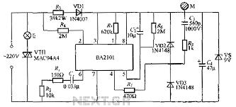 stepping ba2101 touch dimmer light circuit schematic