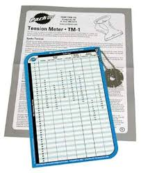 Park Tension Meter Chart Park Tm 1 Tension Meter