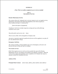 Contract Service Agreement Maintenance Service Template Agreement maintenance contract 2