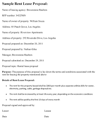 Lease Proposal Letter Classy Rent Lease Proposal Template