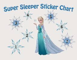 sew the line my sticker fun sticker charts queen elsa 2 sticker chart