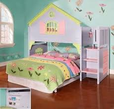 bunk beds for girls with stairs. Wonderful Beds Image Is Loading GirlsTwinDollHouseLoftorBunkBed To Bunk Beds For Girls With Stairs U