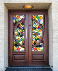 unique stained glass doors i69 for your cheerful home decoration ideas 4 xz17
