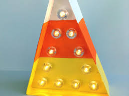 Halloween Candy Corn String Lights How To Make A Halloween Candy Corn Marquee Light Diy