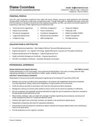 Mechanical Maintenance Engineer Resume Format
