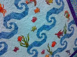 56 best Turtle quilt images on Pinterest | Turtle quilt, Sea ... & Sea Turtle Quilt - Close up Adamdwight.com