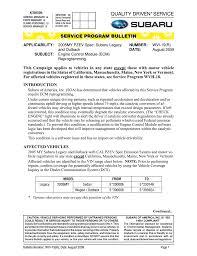 Service Program Bulletin Manualzz Com