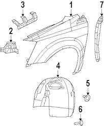 Genuine volkswagen side support retainer vwg 7b0857107