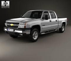 Chevrolet Silverado 2500 Crew Cab Long Bed 2002 3D model - Hum3D