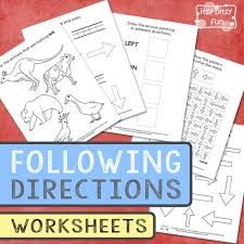 Following Directions Worksheets for Kids - Itsy Bitsy Fun