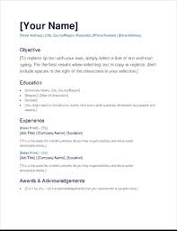 Template Cv 150 Free Resume Templates For Word
