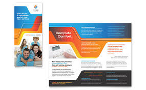 Trifold Brochure Indesign Template Construction Templates Brochures Flyers Postcards
