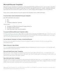 Resume Templates Word 2007 Download Resume Sample Source