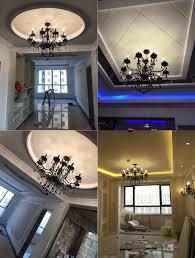 Us 880 übergangs Schwarz Kronleuchter Moderne Kronleuchter Schlafzimmer Metall Hängen Lampen Wohnzimmer Licht Schwarz Eisen Kronleuchter Küche
