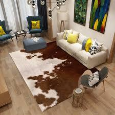 PanlongHome New Animal Fur Imitation Leather Leopard Living Room Bedroom  Carpet Alternative Feather Decorative Mats Floor Mats In Carpet From Home U0026  Garden ...