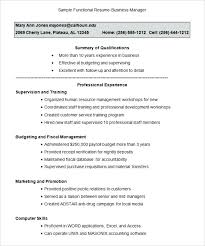 Sample Functional Marketing Resume Functional Resume Template Free ...
