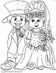 Kleurplaat Bruidspaar 25 Jaar Hochzeit Kleurplatenlcom