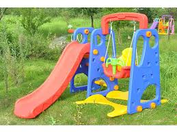 three bright colors lengthened slide three in one slides for kids indoor or  outdoor play for