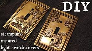 How to Make a Industrial Steampunk Inspired Light Switch Cover- Easy DIY -  YouTube
