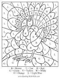 Gobble Gobble Turkey Color By Number