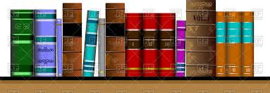 – 62059 Books © Image Leonido Vector Rfclipart With Bookshelf Of Old Objects