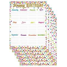 Teacher Birthday Chart Teacher Created Resources Confetti Happy Birthday Chart 6ct
