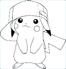 pikachu color page coloring sheets coloring page color pages coloring page coloring pages with cap coloring