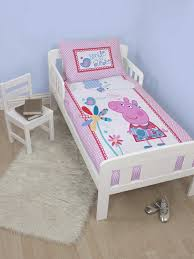 official peppa pig junior duvet cover and pillowcase set bedding best ideas of cot bed