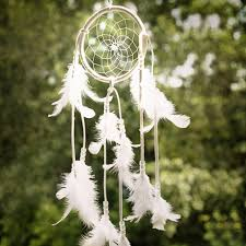 Purchase Dream Catchers India Style Handmade White Dream Catcher Circular With feathers 84
