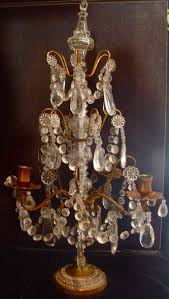 crystal chandelier candle pretty antique french brass crystal sconce candle holder
