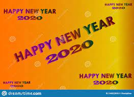 Happy New Year 2020 Graphics Background ...