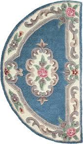 halfmoon rug half moon lotus premium wool blue rings rugs ikea
