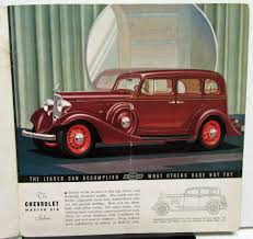 Chevrolet Master and Standard Six Color Sales Brochure Original