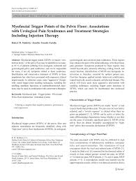 pdf myofascial trigger points of the pelvic floor ociations with urological pain syndromes and treatment strategies including injection therapy