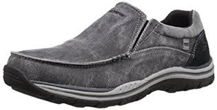 sketchers slip on shoes. skechers relaxed fit expected avillo mens slip on loafers shoes black 11 w sketchers m