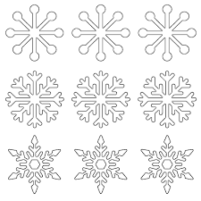 Snowflake Patterns Enchanting Free Printable Snowflake Templates Large Small Stencil Patterns