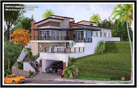 hillside walkout basement house plans inspirational astounding sloped lot house plans sloping au modern with walkout