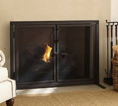 fireplace screens with doors. Latest Fireplace Screens With Doors Industrial Open Door Screen Pottery Barn