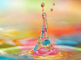 Desktop Wallpaper 3d Colorful Water ...