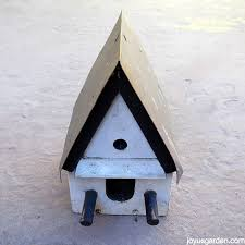 this is the birdhouse how i found it dirty a bit beat up but i dug the copper roof ah the crafting ideas started swirling in my head